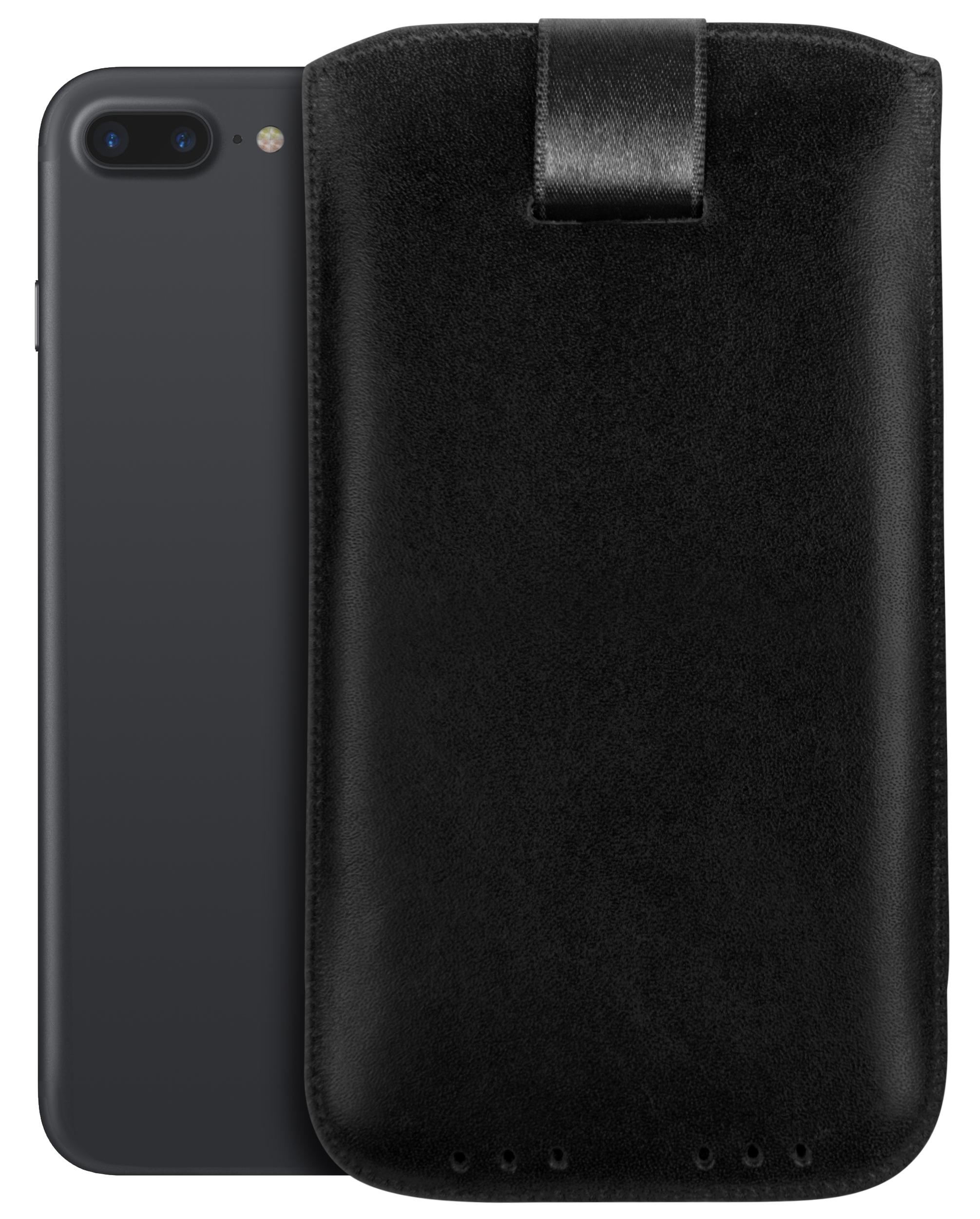 mumbi ledertasche f r apple iphone 8 7 plus h lle leder. Black Bedroom Furniture Sets. Home Design Ideas
